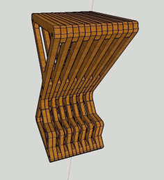 Laser Cut Furniture Parametric Delta Bar Stool Free CDR Vectors Art