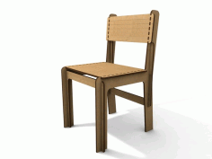 Laser Cut Wood Simple Chair Free CDR Vectors Art