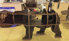 3d Puzzle Bear Table 20mm Free CDR Vectors Art