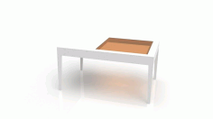Coffee Table With Glass Top Free CDR Vectors Art