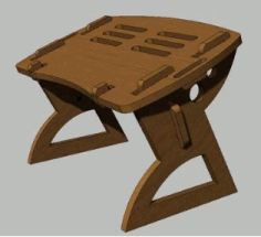Laptop Folding Table Free CDR Vectors Art