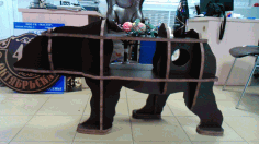 Laser Cut Bear Table 20mm Free CDR Vectors Art