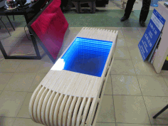 Laser Cut Parametric Table With Infinity Free CDR Vectors Art