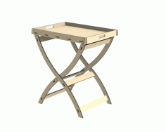 Folding Table Free DXF File