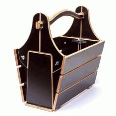 Laser Cut Picnic Basket Table Free DXF File