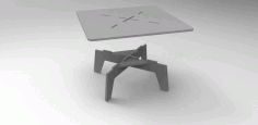Laser Cut Table 750x750x350 Free DXF File