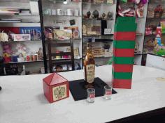 Laser Cutting Wooden Mini Bar Border Post Free DXF File