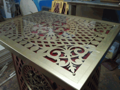 Openwork Table Free DXF File