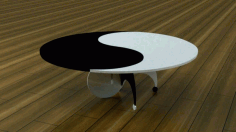 Round Table yin-yang Free DXF File