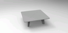Table 750x750x350 Free DXF File