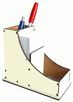 Laser Cut Wooden Desktop Organizer Free CDR Vectors Art
