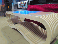 Wooden Parametric Table With Infinity Free CDR Vectors Art