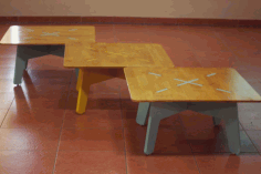 Wooden Table 750x750x350 Free DXF File