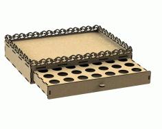 Bandeja Porta Capsulas – 2200 Free CDR Vectors Art