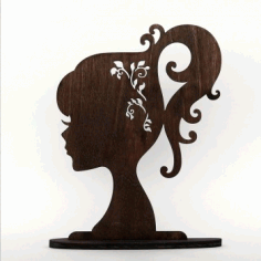Barbie Doll Head Silhouette Free CDR Vectors Art