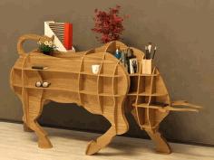 Bull Table Plan Free CDR Vectors Art