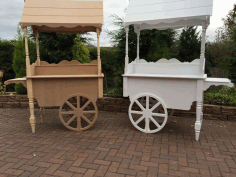 Candy Cart Sweet Wedding Market Display Trolley Florist Free CDR Vectors Art