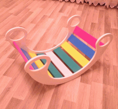 Children Rocking Chair Free CDR Vectors Art