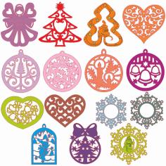 Christmas Decoration Ornaments Free CDR Vectors Art