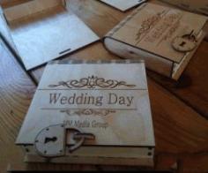 Cnc Laser Cut Wedding Box With Lock Free CDR Vectors Art