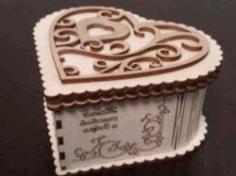 Cnc Laser Cut Wooden Heart Box Free CDR Vectors Art