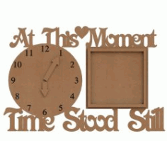 Cnc Laser Cut Wooden Clock Plans Free CDR Vectors Art