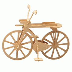 Wooden Bicycle Puzzle Model Cnc Free DXF File