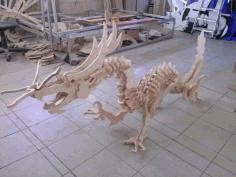 Laser Cut Wooden Dinosaur 3d Puzzle Free DXF File