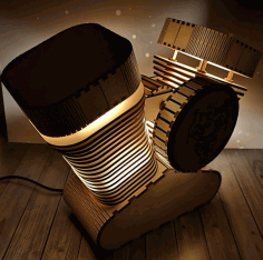 Laser Cut Engine Lamp 3d Puzzle Free CDR Vectors Art