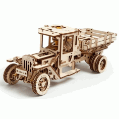 Wooden Loader Truck Puzzle Plan Free CDR Vectors Art