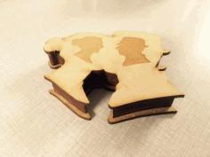 шкатулка пара 3d Puzzle Free CDR Vectors Art