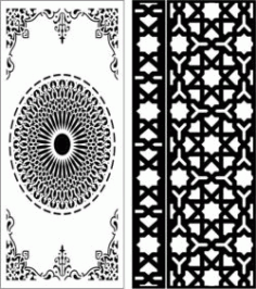 Cnc Laser Cut Star Baffles And Islamic Circle Free CDR Vectors Art