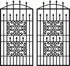 Cnc Laser Cut Wavy Iron Door Pattern Download Plasma Free CDR Vectors Art