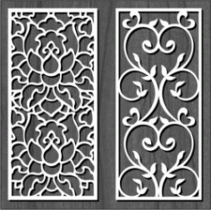 Cnc Laser Cut White Flower Bulkhead Free CDR Vectors Art