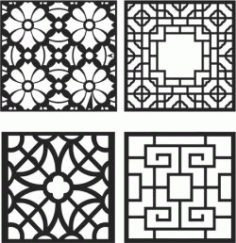 Cnc Laser Cut Window Divider Design Font Free CDR Vectors Art