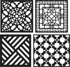 Cnc Laser Cut Window Divider Free CDR Vectors Art