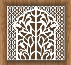 Laser Cut Decorative Screen Design Free CDR Vectors Art