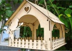 Cnc Laser Cut Wooden Bird Houses Free CDR Vectors Art