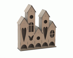 Laser Cut Plywood Tea House Free CDR Vectors Art