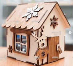 Piggy House Laser Cut Free CDR Vectors Art