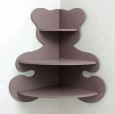 Cnc Laser Cut Shelf Bear Free CDR Vectors Art