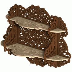 Scroll Saw Wall Shelf Plan Free DXF File