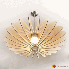 Wooden Lamp Shade Cnc Interior Furniture Free DXF File