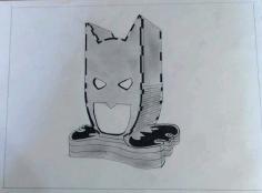 Laser Cut Batman Head Lamp Night Light Free DXF File