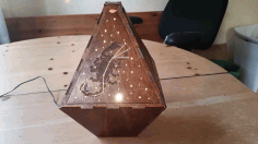 Laser Cut Constellation Lamp 3mm Birch Plywood Free DXF File
