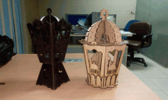Laser Cut Islamic Wooden Ramadan Lantern Free DXF File