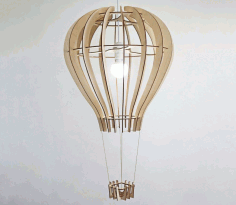 Laser Cut Balloon Design Ceiling Lamp Template Free CDR Vectors Art