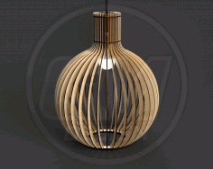 Laser Cut Pendant Light Chandelier Lamp Free CDR Vectors Art