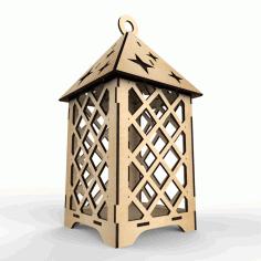 Laser Cut Wooden Elegant Lantern Free CDR Vectors Art