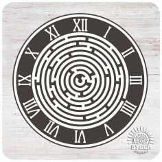 Labyrinth Wall Clock Laser Cut Template Free CDR Vectors Art